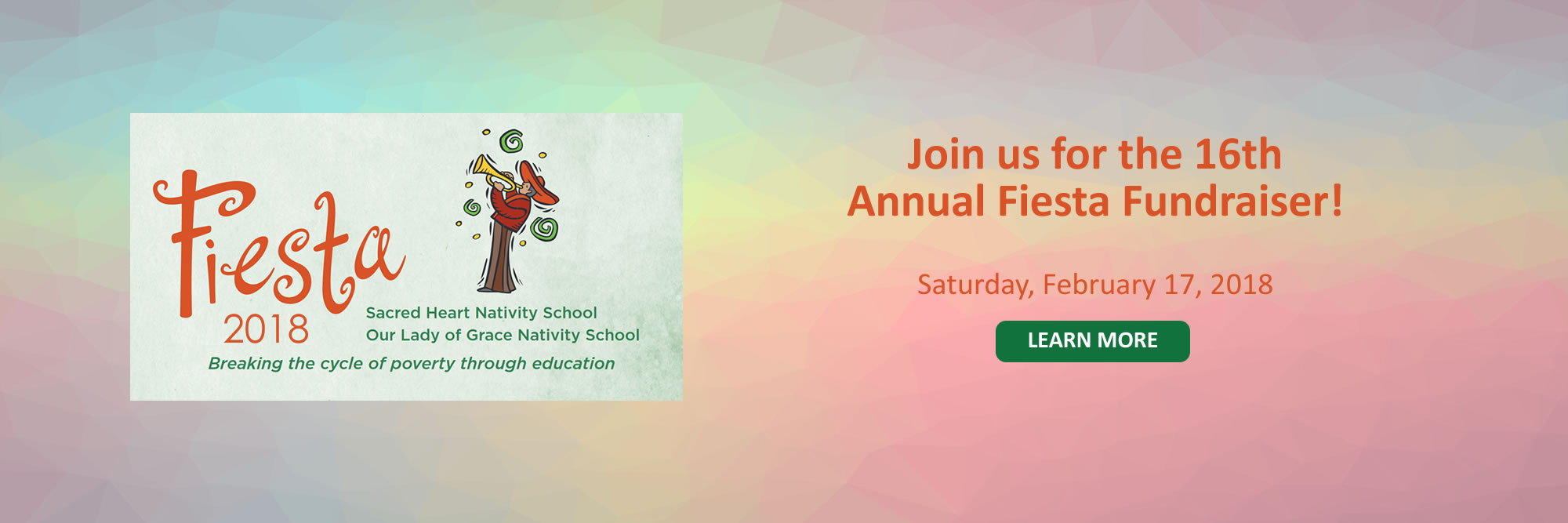 Join us for the 16th Annual Fiesta Fundraiser